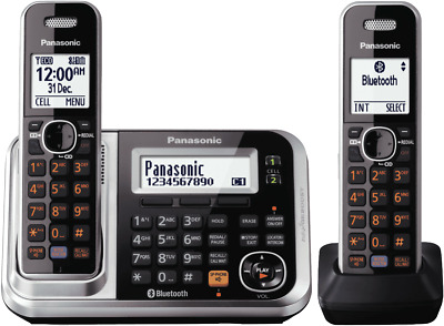 NEW Panasonic KX-TG7892AZS Cordless Phone Twin Pack