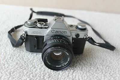Canon AE-1 35mm Film Camera with 50mm f/1.8 Lens