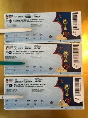 3 tickets June 20th Iran vs. Spain in Kazan // Cat. 1 // World Cup 2018 RUSSIA