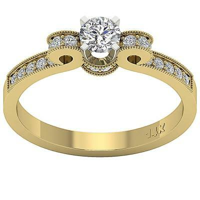 Solitaire Anniversary Ring VS1 F 0.70 Ct Natural Diamond 14Kt Solid Yellow Gold