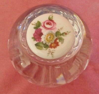 Lead Crystal Cut Glass Paper Weight Perfect Condition