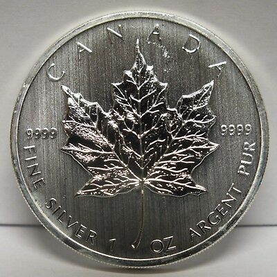 Canada 2012 Silver Maple Leaf $5 Coin .9999 1 oz Canadian bullion - JY539