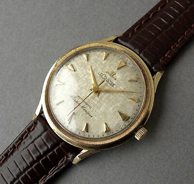 d0526a1201e1 JAEGER LECOULTRE 14K SOLID GOLD MASTER MARINER Automatic Vintage Watch 1960