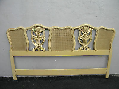 French Caned Hand Painted King Size Headboard 3014