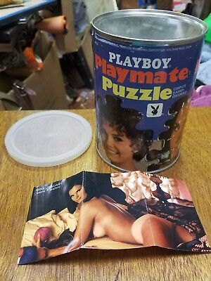 Vtg SEALED in Can Jan 1969 Playboy Playmate Jigsaw Puzzle AP114 Leslie Bianchini