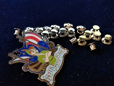 Disney pins gold silver 10 locking pin keeper backs (DONT LOSE YOUR PINS )