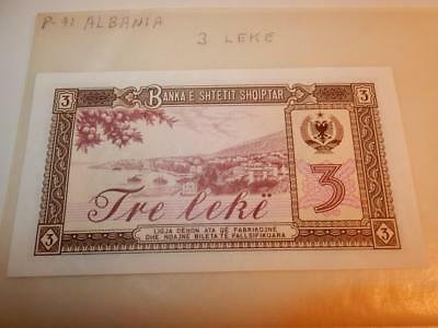 Vintage Currency Albania 3 Leke 1976 Paper Money P-41 Unc