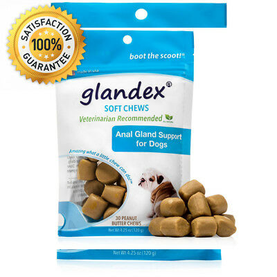 Glandex® Soft Chews 30 Count, Anal Gland Fiber & Probiotic Digestive...