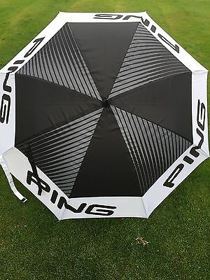 "Ping Golf  68"" Arc Tour Umbrella Black - White in Colour Double Canopy"