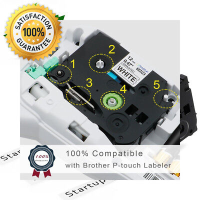 TZe Label Tapes, P touch Tape Cassette 12mm Compatible Brother P-Touch 231...