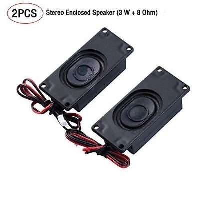 JST-PH2.0 interface Stereo Enclosed Speaker (2 PCS), 3 W, 8 Ohm. Applied to All