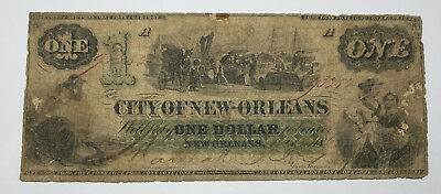 1862 $1 The City of New-Orleans, LOUISIANA Note - CIVIL WAR Era