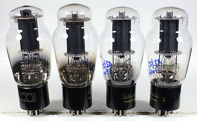 4 Sylvania clear glass 6L6G tubes TV7D tested strong tubes 6L6 beam tube amp