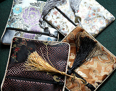 Pouch Silk Jewelry Bag Vintage Style Jewellery Bags Gift or Travel