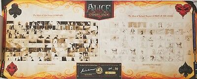 American McGee's Alice Otherlands Kickstarter Limited Cloth Storyboard Signed