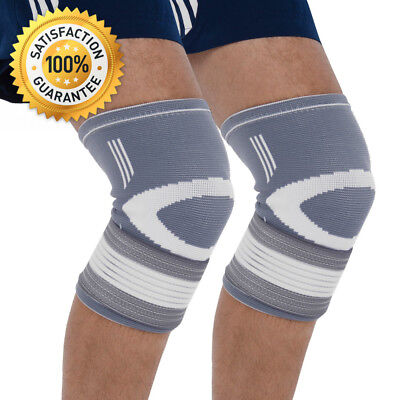 Bionix 2-Pack Compression Knee Sleeves - Best Support Brace For Meniscus...