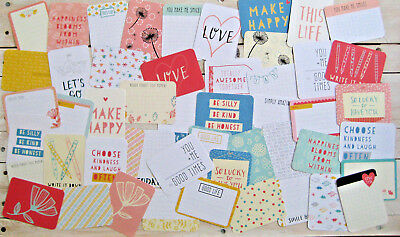 "'doodle' Project Life Cards By Becky Higgins - 3"" X 4"" - 50 Cards"