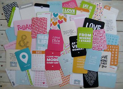 """'kiwi' Project Life Cards By Becky Higgins - 3"""" X 4"""" - 50 Cards"""