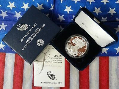 2016-W U. S. Mint $1 American Proof Ultra Cameo Silver Eagle Dollar *w/let Edge*