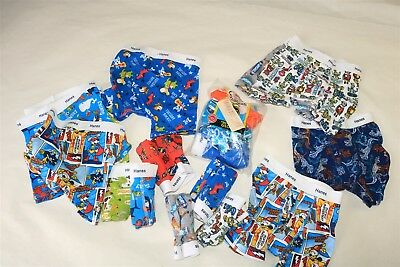 Mixed LOT OF 19 HANES Toddlers Boy's Tagless Print Boxer Briefs Assorted - 2T-3T