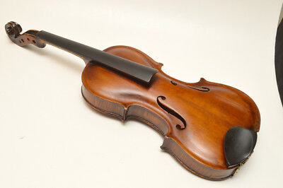 Antique J.B. SCHWEITZER Violin Grafted Neck 1814 w/Coffin Case