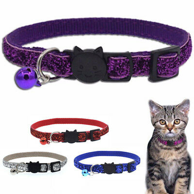 Cat Kitten Safety Personalized Breakaway Collars with Bell Neck Strap Buckle
