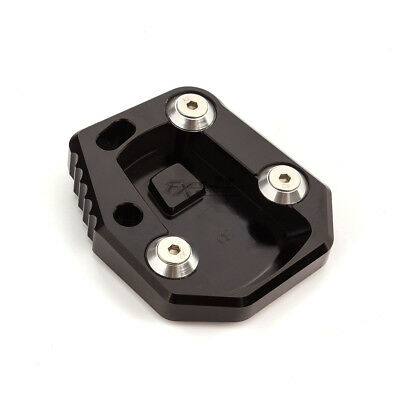 Black CNC Enlarge Kickstand Side Stand Extension Plate Pad For CF cf650 cf400nk