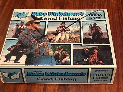 Vintage 1986 Babe Winkelman's Good Fishing Trivia Board Game. 99% Complete.
