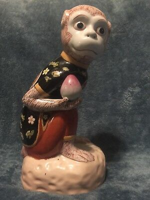 Porcelain Monkey Figurine