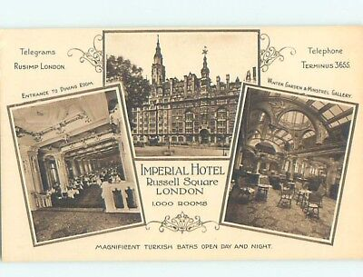 1920's IMPERIAL HOTEL AT RUSSEL SQUARE London England UK F6693