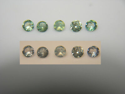 5 Natural Alexandrite gems COLOR CHANGE Green Blue Purple round accents ~ 1.9mm
