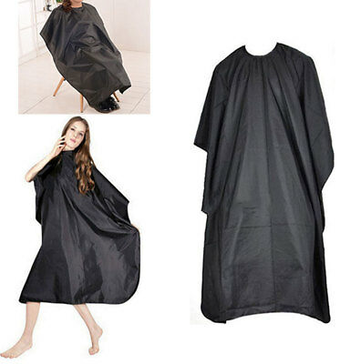 Hair Cutting Cape Pro Salon Hairdressing Hairdresser Gown Barber SOLID BLACK NEW