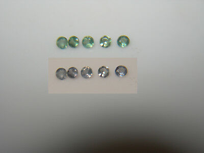 5 Natural Alexandrite gems COLOR CHANGE Green Blue Purple round accents ~ 1.2mm