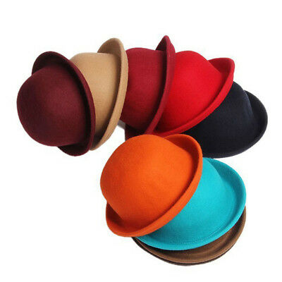Classic Lady Vogue Vintage Women's Wool Cute Trendy Bowler Derby Hat Fashion New