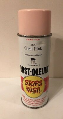 Vintage Rust Oleum Spray Paint Can Coral Pink 864 From 1967