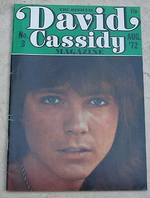 The Official David Cassidy Magazine No.3 - August 1972