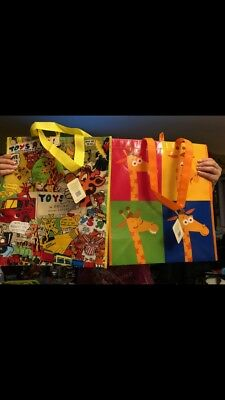 Toys R Us Reusable Bag Set Geoffrey...Set of 2...Brand New With Tags..Never Used