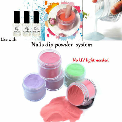Nail Art Dipping Powder Without Lamp Cure Natural quick Dry Powder Beauty
