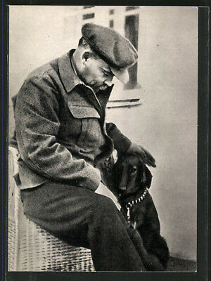 AK Lenin in Gorki mit Hund, August-September 1922