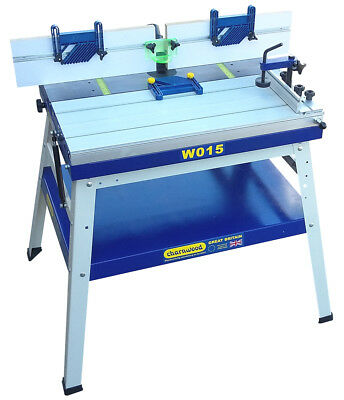 CHARNWOOD W015 Floorstanding Universal Router Table with Sliding Table