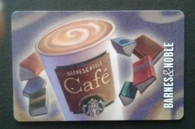 Barnes & Noble 2017 STARBUCKS Logo Gift Card, Cafe', Collectible, Mint