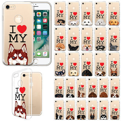 For Apple iPhone 8 / iPhone 7 4.7 inch I Love My Dog Design TPU Case Cover