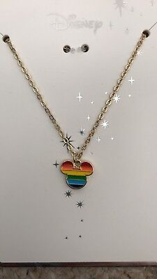 Brand New Disney Mickey Mouse Pride Rainbow necklace