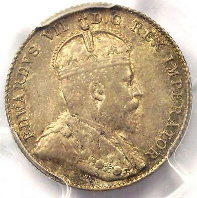 1906 Canada Edward VII 10 Cent Coin 10C - PCGS MS63 - Rare in MS63 - $775 Value