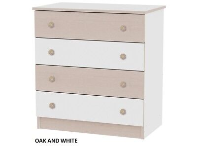 Baby dresser Lorelli with four drawers in various colour combinations
