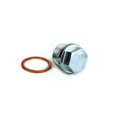 M24x1.5mm Thread Length 14mm Engine Sump Drain Plug Bolt with Copper Washer
