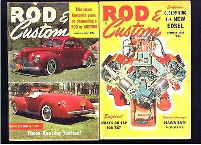 Vintage~ Rod Builder + Rod & Custom ~ James Dean ~Chopping & Channeling~ Ex Cond
