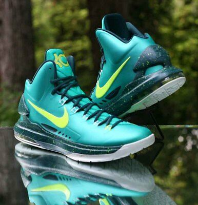 e00f9d3c472b2e Nike Zoom KD 5 Hulk Atomic Teal Volt 554988-300 Men s Basketball Shoes Size  12