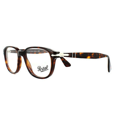 73badbcc6d3 PERSOL MEN S EYEGLASSES PO3145V PO 3145 V 24 Havana Full Rim Optical ...