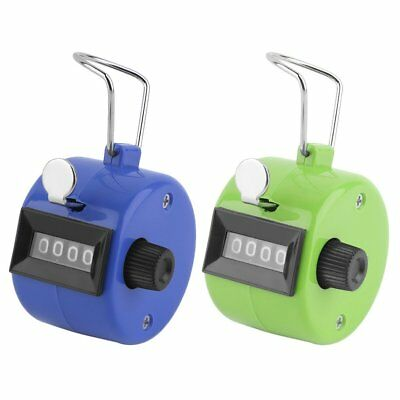 Digital Hand Held Tally Clicker Counter 4 Digit Number Clicker Golf Chrome MA